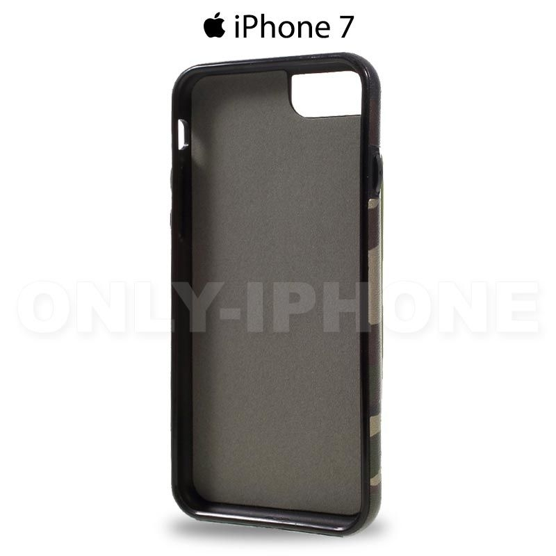 coque iphone 7 camouflage rouge