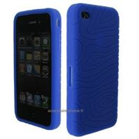 Protection silicone iPhone 4 4s bleu