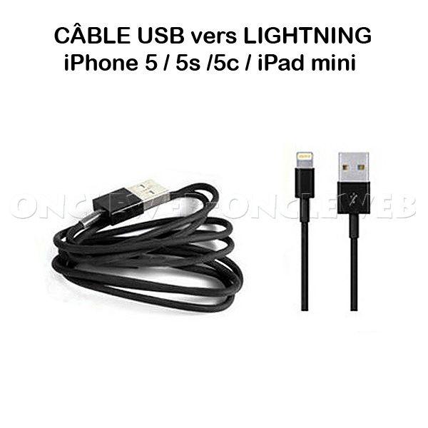 c u00e2ble usb lightning iphone ipad mini couleur