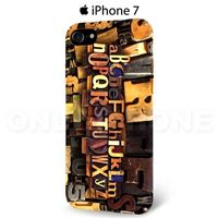 Coque iPhone 7 Alphabet