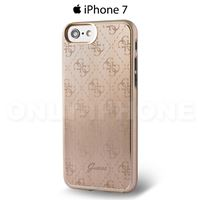 Coque iPhone 7 GUESS aluminium rigide dore