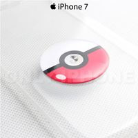 Coque iPhone 7 Pokemon go poke ball rouge