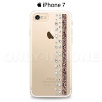 Coque iPhone 7 Swarovski Hermitage noir