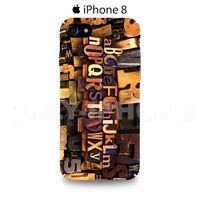 Coque iPhone 8 Alphabet  Orange