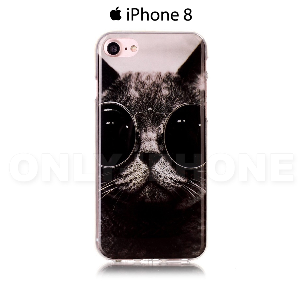 coque iphone 8 chat noir