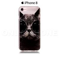 Coque iPhone 8 Chat Cool Noir