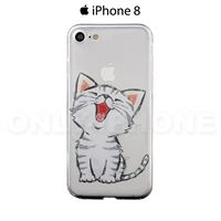 Coque iPhone 8 Chaton Heureux Transparent