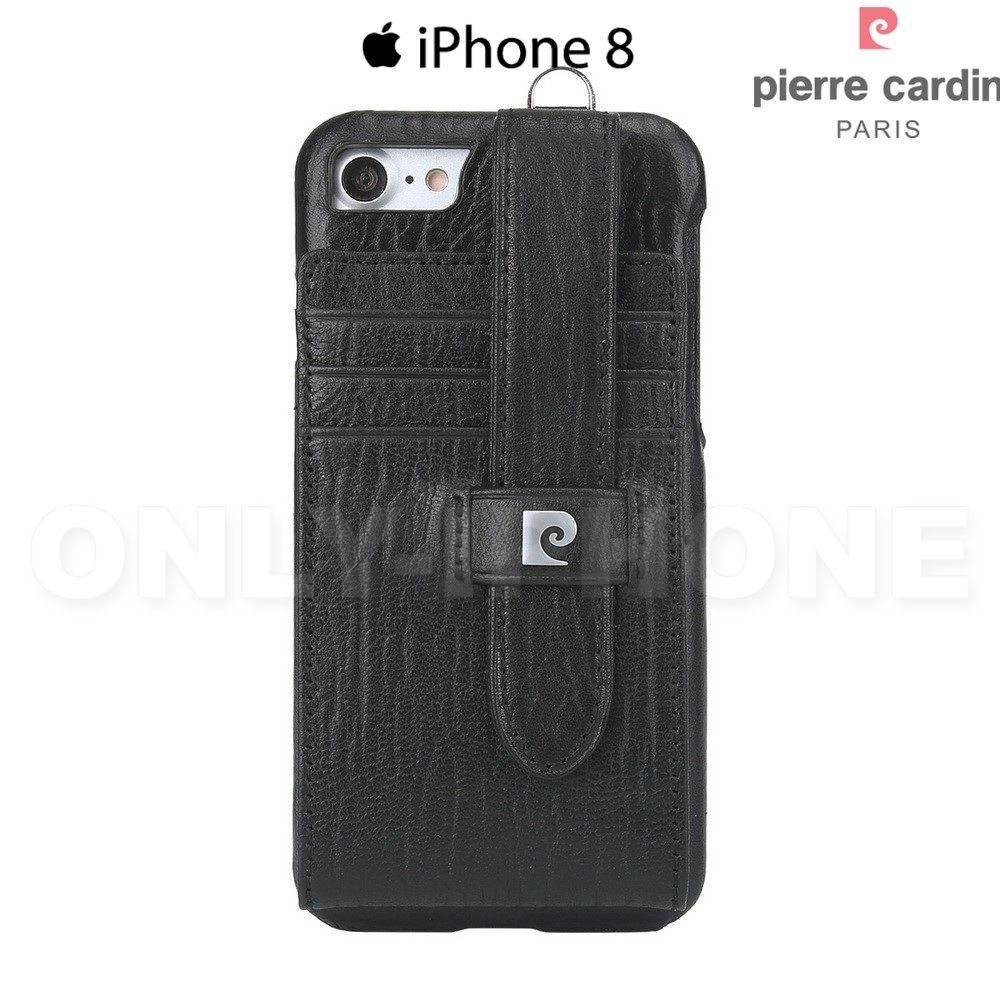 coque iphone 8 cuir veritable luxe pierre cardin etui iphone. Black Bedroom Furniture Sets. Home Design Ideas