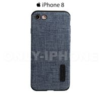 Coque iPhone 8 denim Bleu