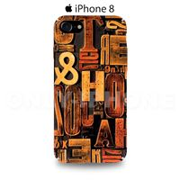 Coque iPhone 8 Lettres Marron