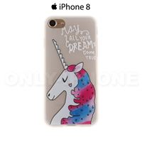 Coque iPhone 8 Licorne Transparent