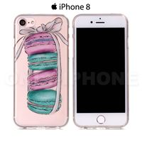 Coque iPhone 8 Macarons Transparent
