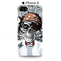 Coque iPhone 8 pirate Blanc