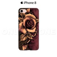 Coque iPhone 8 Rose fanée Marron