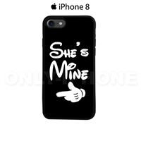 Coque iPhone 8 She's Mine Noir