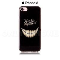 Coque iPhone 8 Sourire horrible Noir