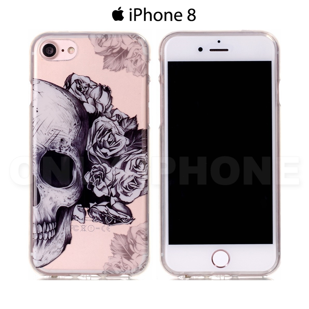 iphone 8 plus coque tete de mort