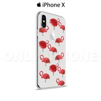 Coque iPhone X Flamants roses cristal Rose