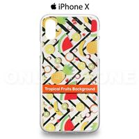 Coque iPhone X Fruits