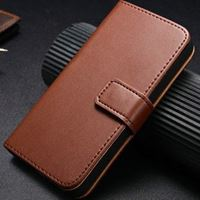 etui iphone 5 portefeuille marron
