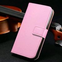 Etui iPhone 5/5S cuir portefeuille chevalet rose