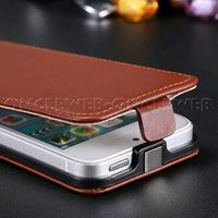 Étui iPhone 5s cuir marron à clapet Rancho