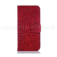 Etui 6 Plus croco rouge