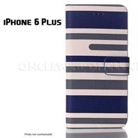 Étui 6 Plus original stripes bleu