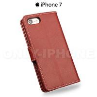 etui iphone 7 effet grainé rouge arriere back