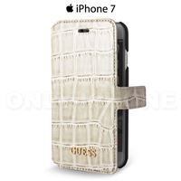 étui iPhone 7 Guess croco beige