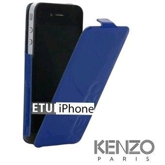 Etui cuir clapet iPhone 5 Kenzo Blue