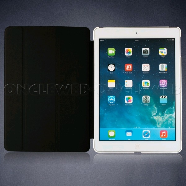 Housse ipad mini type smart cover blanc for Housse i pad mini