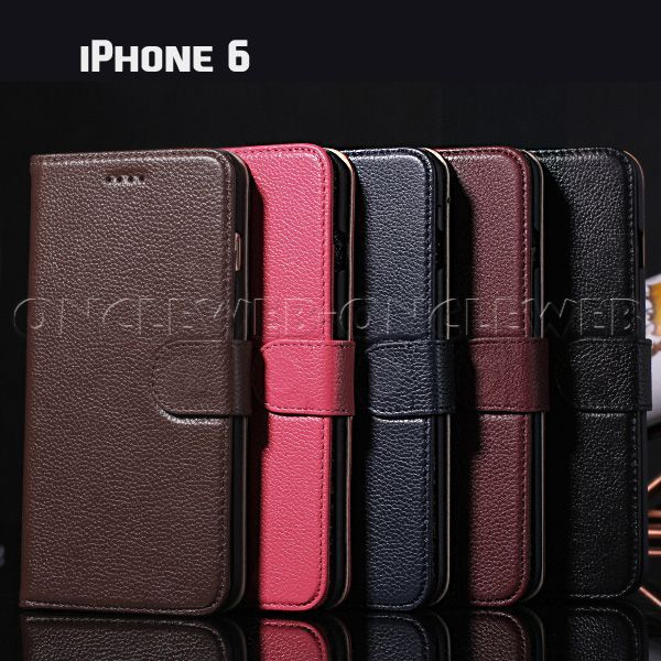 Tui iphone 6 cuir luxe grain for Housse iphone 6 luxe