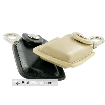 Porte cle cuir ipod new shuffle for Housse ipod shuffle
